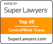 Super Lawyers Top 50 in Central/West Texas badge